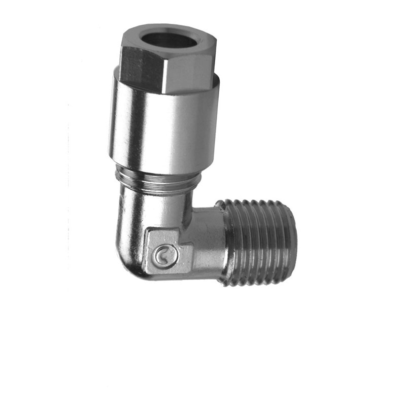 Camozzi - 1020 8-1/4 Compression Fitting-Fixed Male Elbow-8mm Tube-1/4 Thread