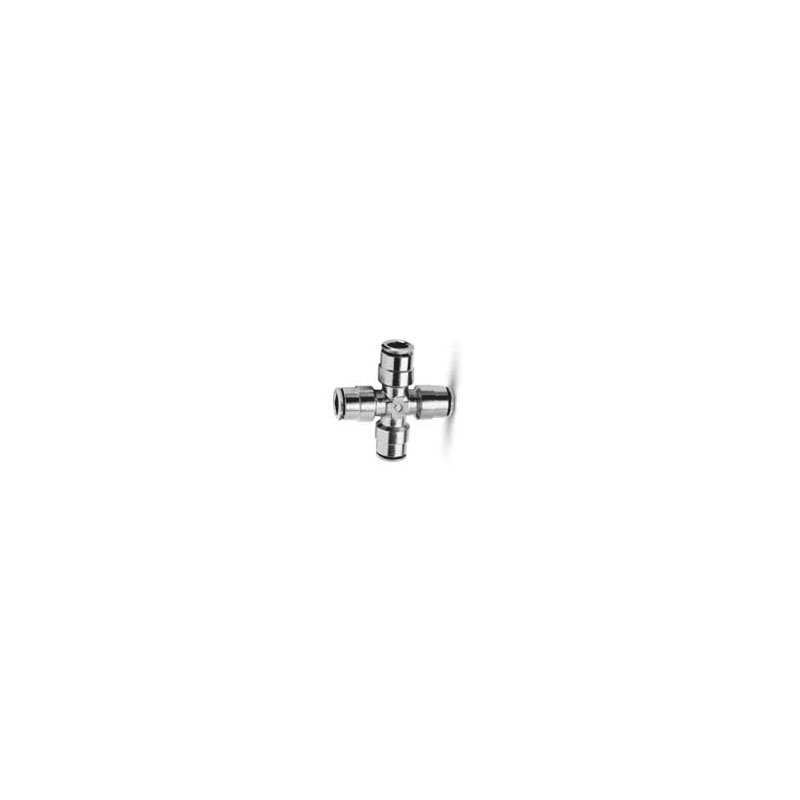 Camozzi - 6600 8 Push In Fitting-Equal Tube Cross Connector-8mm Tube