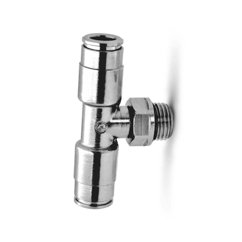 Camozzi - 8432 6-1/8 Dual Seal Push In Fitting-Swl BraNCh Tee-6mm Tube-1/8 Thread